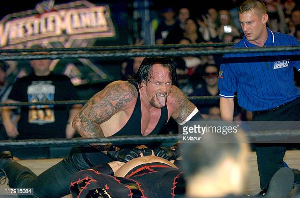 Undertaker and Kane during Wrestle Mania XX at Madison Square Garden in New York City New York United States
