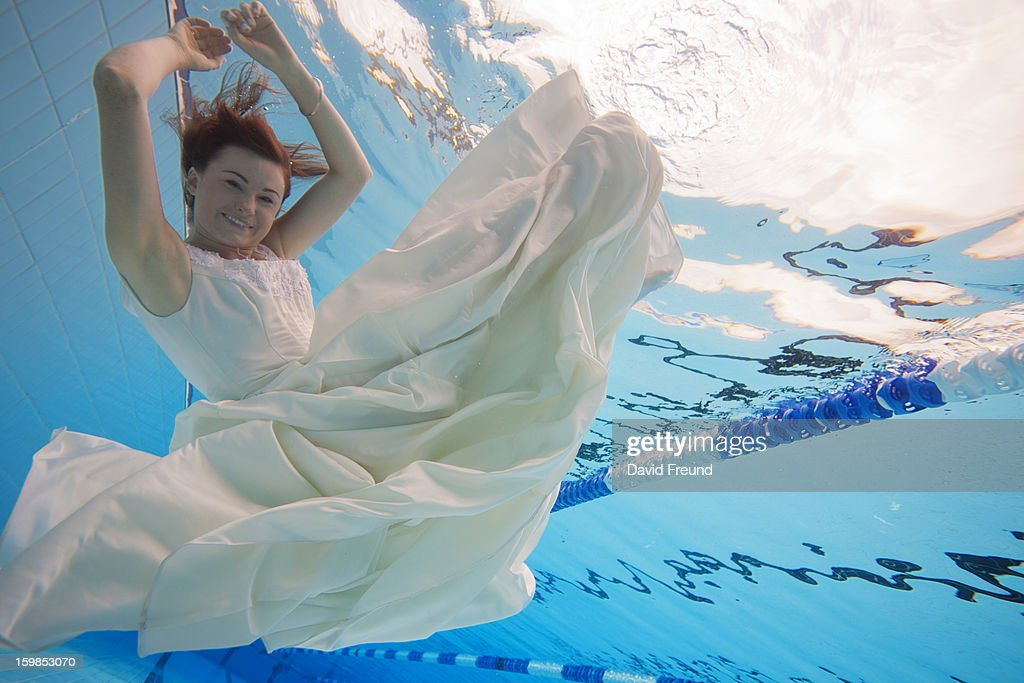 Underwater Bride : Stock Photo