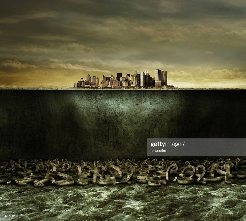 Underwater co2 city : Stock Photo