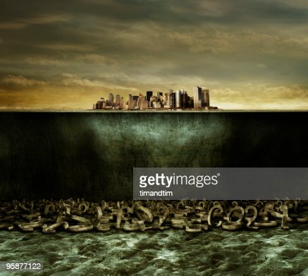 Underwater co2 city : Foto de stock