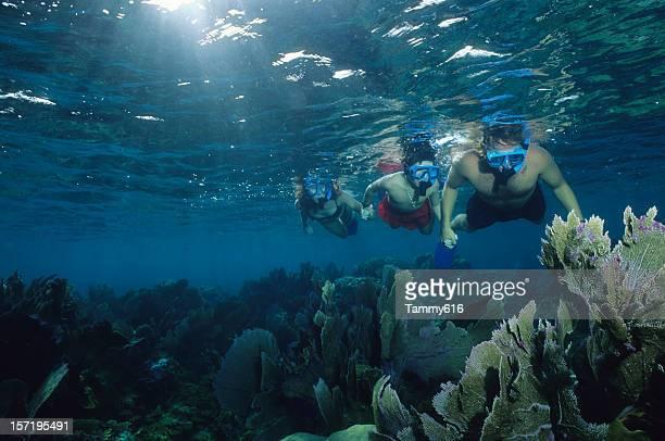 Underwater Family Snorkeling
