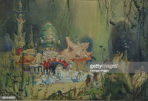 Underwater Kingdom Stage design for the opera Rusalka by A Dargomyzhsky 1884 Found in the collection of the V Vasnetsov Memorial Museum Moscow