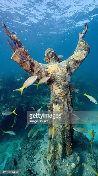 Underwater statue of Christ