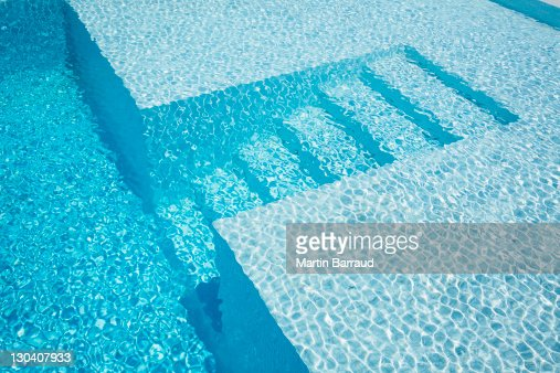 Underwater steps in pool : Stock Photo