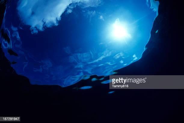 Underwater Sunburst & Sky