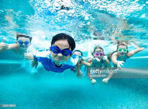 Vue sous-marine natation
