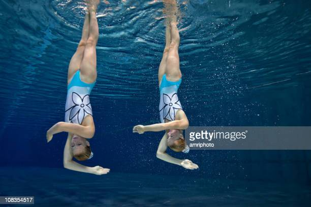 underwater synchronized swimming figure