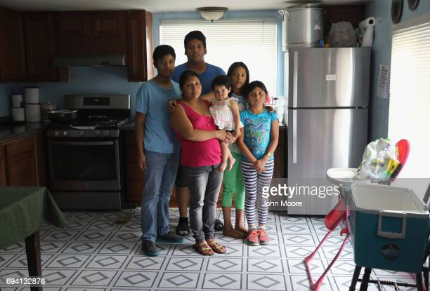 Undocumented immigrant from Chiapas Mexico Guadalupe Lopez stands with her five USborn children on June 6 2017 at home in Thornton Colorado She said...