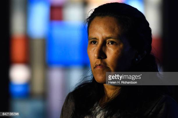 Undocumented immigrant Jeanette Vizguerra is pictured in the sanctuary of the First Unitarian Church on February 16 2017 in Denver Colorado The...