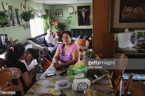 Undocumented immigrant Juanita Gonzales sits in her home on June 6 2017 in Thornton Colorado The Durango Mexico native who has lived illegally in the...