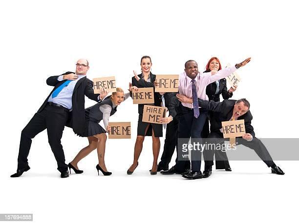Affaires gens qui se battent pour les demandeurs d'emploi