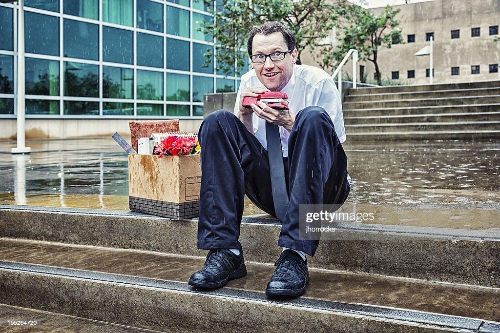 Unemployed Businessman Plots Revenge : Stock Photo