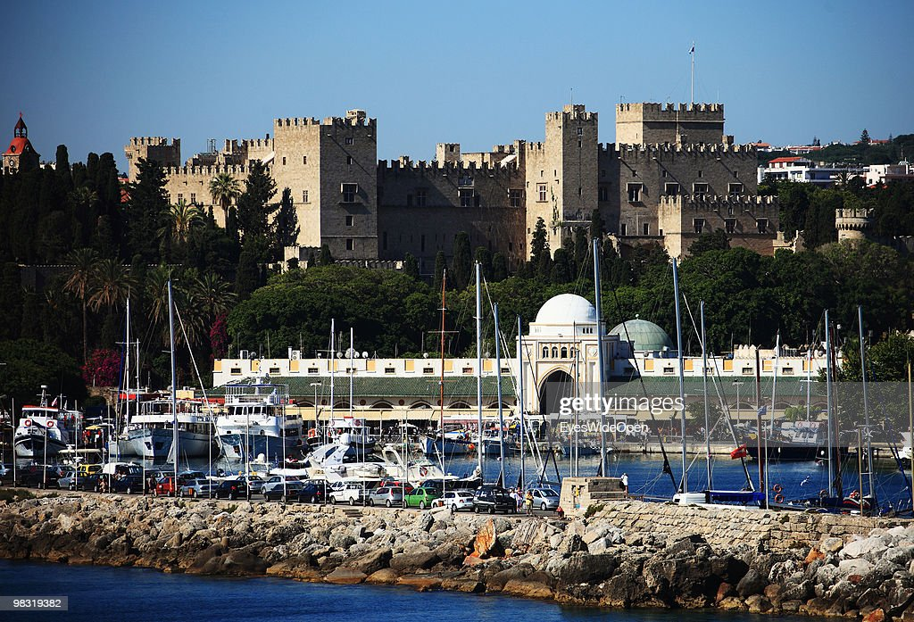 Unesco World Heritage Grand Master's Palace of the Old town of Rhodes city with Mandraki harbour on July 16 2009 in Rhodes Greece Rhodes is the...