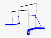 Computer generated 3D illustration with Uneven Bars