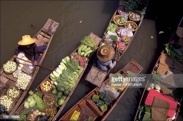 Unexpected Bangkok On January 12Th 2000 In Bangkok Thailand Wat Sai Floating Market