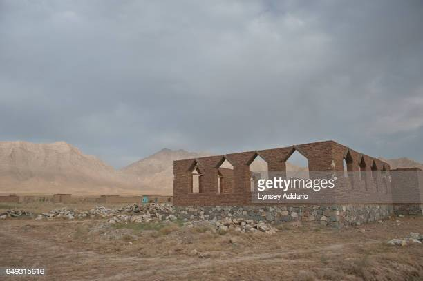 A unfinished mosque is seen in the mostly abandoned land allocation settlement of AliceGhan about 30 miles outside of Kabul Afghanistan July 22 2011