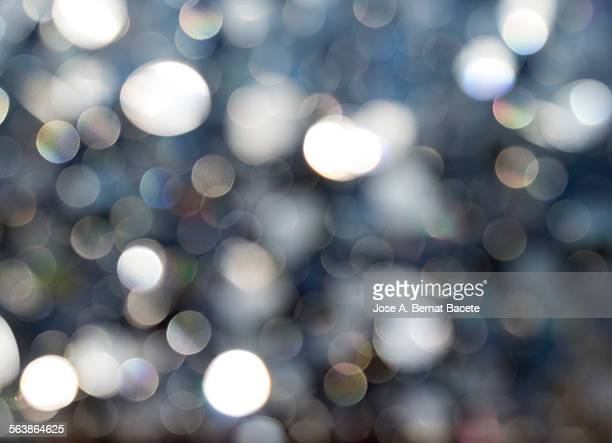 Unfocused circles background with sunlight