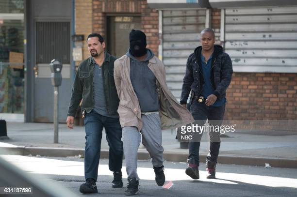 BLUE 'Unforgiven' Episode 201 Pictured Vincent Laresca as Det Carlos Espada Dayo Okeniyi as Michael Loman Hampton Fluker as Marcus Tufo