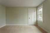Unfurnished bedroom with window view