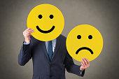 Unhappy and Happy Smile