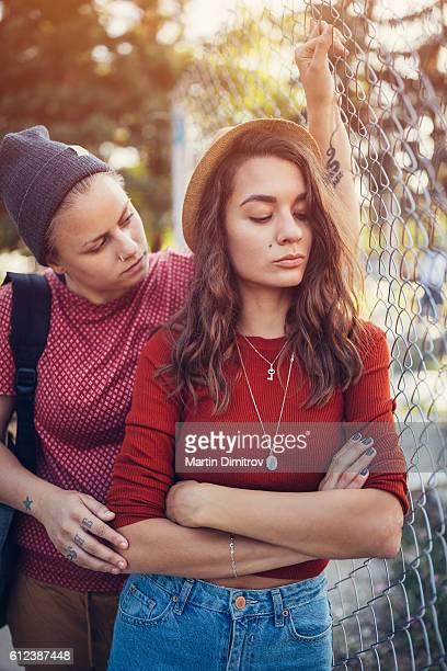 Unhappy homosexual couple