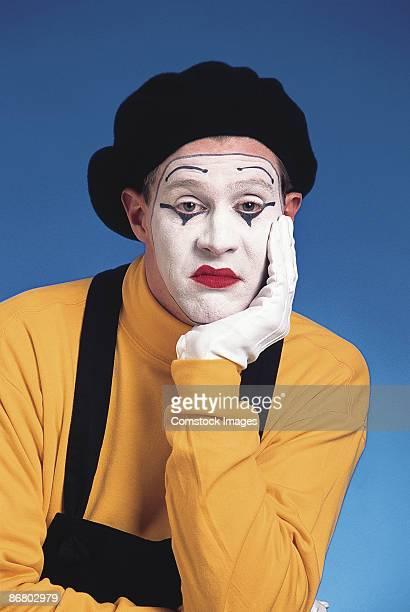 Unhappy mime