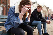 Unhappy Teenage Couple Having Relationship Difficulties