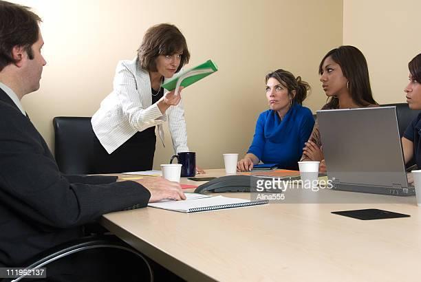 Unhapy boss at the board meeting