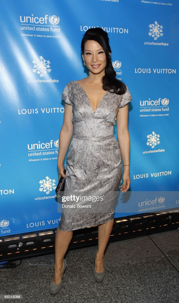 Unicef Ambassador Lucy Liu attends the lighting of the UNICEF Snowflake at Louis Vuitton Fifth Avenue on November 19 2009 in New York City