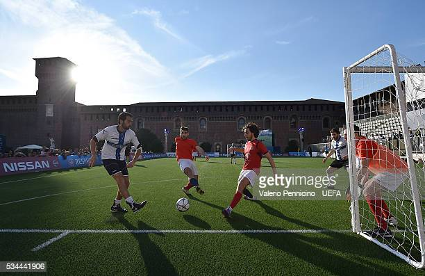 Unicredit competition match during the Champions Festival prior to the final at Stadio Giuseppe Meazza on May 26 2016 in Milan Italy