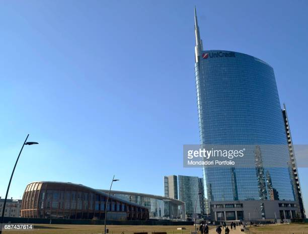 Unicredit Tower designed by C'sar Pelli and Unicredit Pavilion Milan 15th January 2017