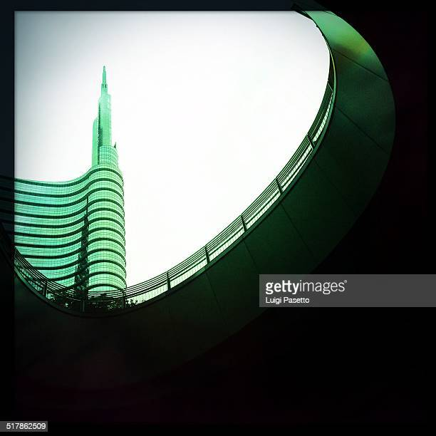 Unicredit tower taken from Gae Aulenti square Landmark of Milano Expo 2015 Milano Lombardy Italy