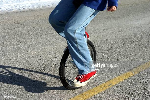 一輪車バランス/のクローズアップ