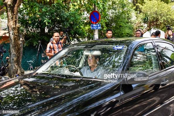 Unidentify man drives out alone from the North Korea Embassy on February 23 2017 in Kuala Lumpur Malaysia