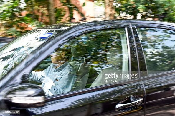 Unidentify man drives out alone from the North Korea Embassy on February 23 2017 in Kuala Lumpur Malaysia North Korean leader Kim Jong Un's older...
