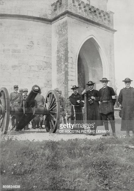 Uniforms of priests nominated chaplains during the commemoration of the Battle of San Martino Italy World War I photo by Ugo Zuecca from...