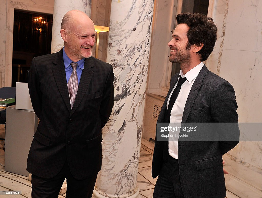 UniFrance Films President Jean-Paul Salome and actor Romain Duris attend the after party for the U.S. premiere of POPULAIRE, hosted by The Film Society of Lincoln Center, UniFrance Films, and The Weinstein Company at The French Embassy on February 28, 2013 in New York City.