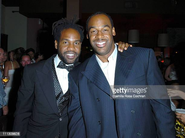 Unik and Donovan McNabb during Lionel Richie's 56th Birthday Party at PM in New York City New York United States