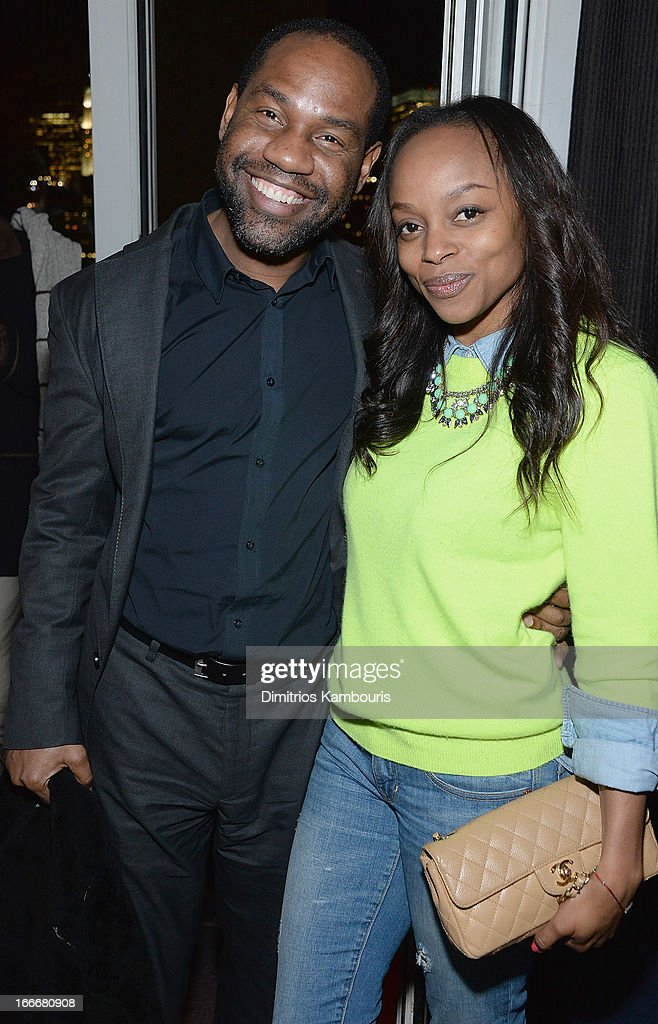 <a gi-track='captionPersonalityLinkClicked' href=/galleries/search?phrase=Unik+Ernest&family=editorial&specificpeople=2925781 ng-click='$event.stopPropagation()'>Unik Ernest</a> and Keisha Johnson attend the after party for the Cinema Society and Men's Fitness screening of 'Pain and Gain' at Jimmy At The James Hotel on April 15, 2013 in New York City.