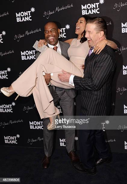 Unik Ernest Rosario Dawson and Stephen Baldwin attend Montblanc Celebrates 90 Years of the Iconic Meisterstuck on April 3 2014 at Guastavino's in New...