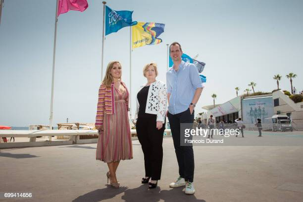 Unilever's EVP of Global Marketing Aline Santos Executive Director UN Women Joelle Tanguy and CoFounder and CoCEO of Refinery29 Philippe von Borries...