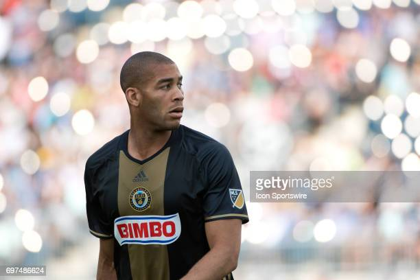 Union D Oguchi Onyewu looks on in the first half during the game between the New York Red Bulls and Philadelphia Union on June 18 2017 at Talen...