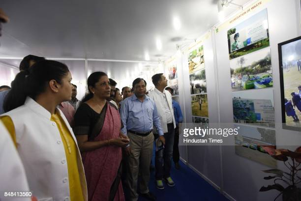 Union Defence Minister Nirmala Sitharaman during the 'Swachhta Hi Seva' campaign which aimed at highlighting the Narendra Modi government's flagship...