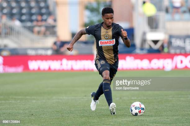 Union Defender Giliano Wijnaldum carries the ball in the first half during the US Open Cup Game between the Harrisburg City Islanders and the...