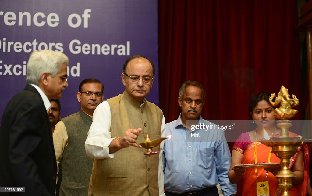 Union Finance Minister Arun Jaitley inaugurating at All India Conference of Chief Commissioners and Director General of Customs and Central Excise and Service Tax on August 24, 2015 in New Delhi, India.