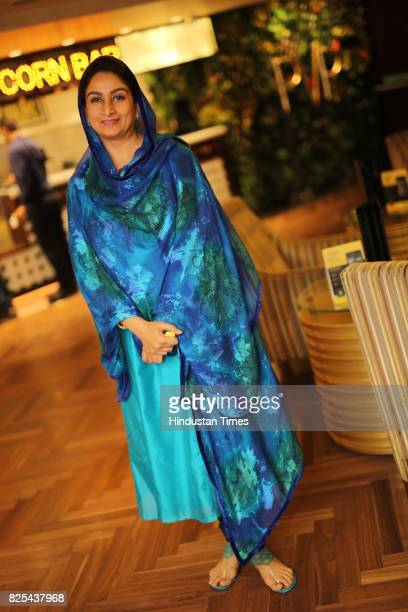 Union Food Processing Industry Minister Harsimrat Kaur Badal during the special screening of a movie 'The Black Prince' on July 24 2017 in New Delhi...