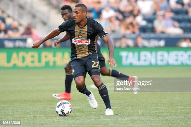 Union Forward Jay Simpson gets ready to shoot in the first half during the US Open Cup Game between the Harrisburg City Islanders and the...
