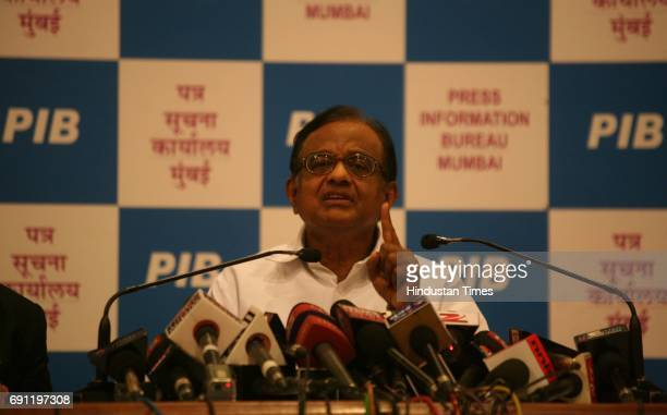 Union Home Minister P Chidambaram addressing various contemporary issues at a press Conference at Yashwantrao Chavan Centre Nariman Point in MUmbai...
