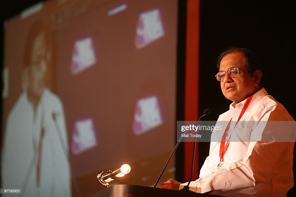 Union Home minister P Chidambaram at the India Today Conclave in New Delhi on March 12 2010