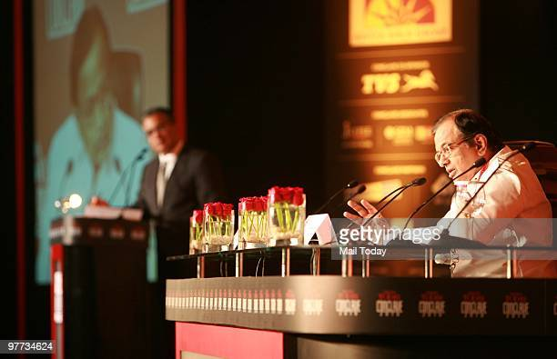 Union Home minister P Chidambaram speaks at the India Today Conclave in New Delhi on March 12 2010